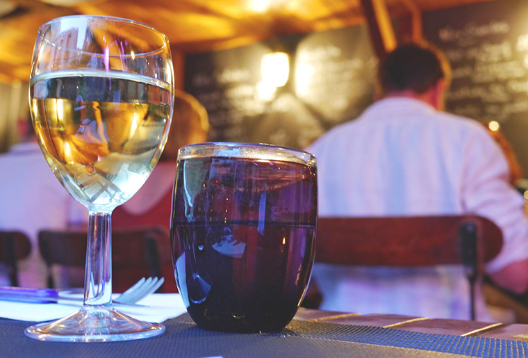 Dégustation de vins lors du Festival
