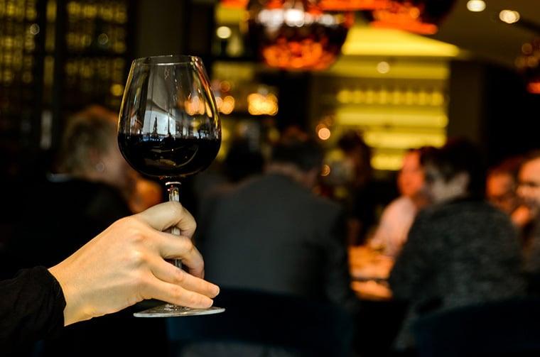 Salon de vins lors du festival